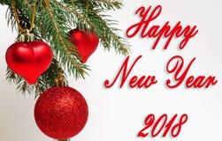 2018 счастливых Новых Годов Стоковые Фото