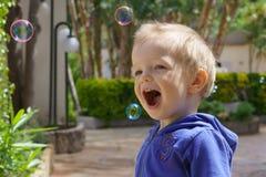 Счастье в пузырях Стоковая Фотография