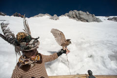 Счастье путешественника на горе снега дракона нефрита. Стоковое Фото