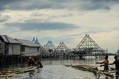 Счастье рыболова стоковые изображения rf