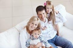 счастье семьи Стоковое Изображение RF