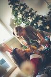 Счастье, утеха и праздники рождества стоковая фотография rf