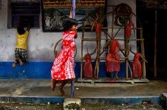 Счастье Durgapuja Стоковое Изображение RF