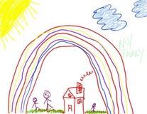 счастье s чертежа ребенка Стоковое Фото