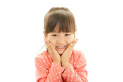 Счастливая азиатская улыбка девушки стоковое фото