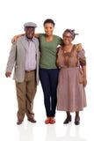 Счастливая африканская семья стоковые фото