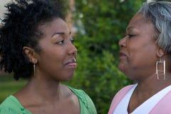 Счастливая Афро-американская мать и ее daugher Стоковая Фотография