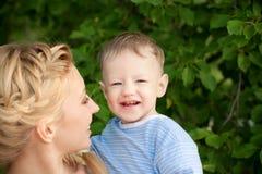 Мать и сынок Стоковое фото RF