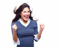 Счастливая бизнес-леди. Успех. Стоковое фото RF