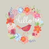 счастливая весна иллюстрация штока