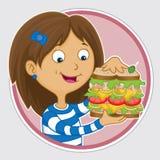 Очень вкусный сандвич бесплатная иллюстрация