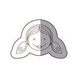 счастливая девушка с значком hairstale Стоковое фото RF