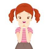 Счастливая девушка с расчалками зубов Стоковые Фото