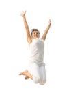 Счастливая девушка танцев Стоковые Фото