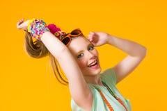 Счастливая девушка Стоковая Фотография RF