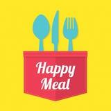 счастливая еда Стоковое Изображение RF