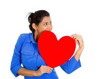 Счастливая женщина в влюбленности Стоковое фото RF
