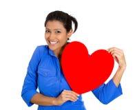 Счастливая женщина в влюбленности Стоковое Изображение RF