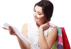 Счастливая женщина покупок Стоковое Фото