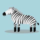Счастливая зебра шаржа Стоковая Фотография