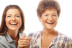 Счастливая зрелая дочь взрослого ang матери Стоковые Фото