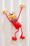 Счастливая игрушка магнита коровы Стоковые Фото