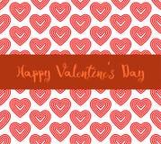 Счастливая линия сердца предпосылка дня валентинки красная картины Стоковое Изображение