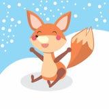 Счастливая лисица Стоковая Фотография
