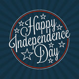 Счастливая литерность Дня независимости Стоковое Изображение