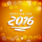 Счастливая литерность 2016 Нового Года сделанная с лентами Стоковые Изображения