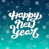 Счастливая литерность Нового Года для поздравительной открытки Стоковые Фото