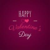 Счастливая литерность дня Валентайн верхний слой фото, рука нарисованная литерность, вдохновляющий текст Ярлык дня валентинки там Стоковая Фотография
