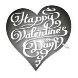 Счастливая литерность дня валентинок в сердце Стоковые Изображения RF