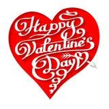 Счастливая литерность дня валентинок в сердце Стоковая Фотография RF