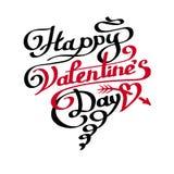 Счастливая литерность дня валентинок в сердце Стоковые Изображения