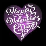 Счастливая литерность дня валентинок в сердце Стоковое фото RF