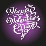 Счастливая литерность дня валентинок в сердце Стоковое Изображение