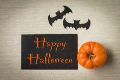 Счастливая идея дизайна карточки хеллоуина Стоковые Изображения RF