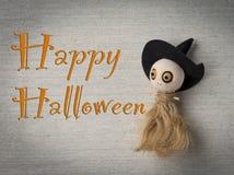 Счастливая идея карточки хеллоуина Стоковая Фотография