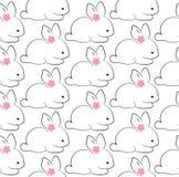 Счастливая иллюстрация вектора картины зайчика пасхи Стоковые Изображения