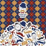 Счастливая иллюстрация дня отцов Стоковое Изображение