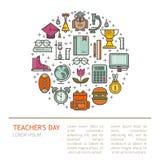 Счастливая иллюстрация дня учителя s Стоковые Фото