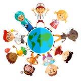 Счастливая иллюстрация дня Children's иллюстрация вектора