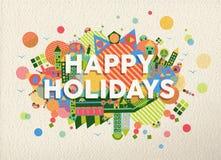 Счастливая иллюстрация цитаты праздников Стоковое Изображение