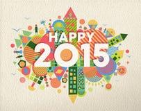 Счастливая иллюстрация 2015 цитат Стоковые Фотографии RF