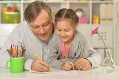 Счастливая картина отца и дочери Стоковое Изображение