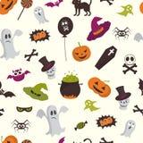 Счастливая картина хеллоуина безшовная Стоковое Фото