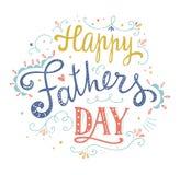 Счастливая карточка вектора дня отцов Стоковое Изображение RF