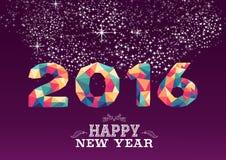 Счастливая карточка года сбора винограда треугольника цвета Нового Года 2016 Стоковое фото RF