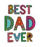 Счастливая карточка Дня отца иллюстрация штока